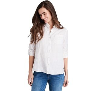 Vineyard Vines Striped Linen Relaxed Button Down